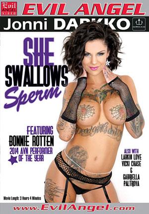 She Swallows Sperm